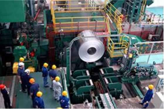 武汉船企客户组团考察明泰铝业船用铝板车间